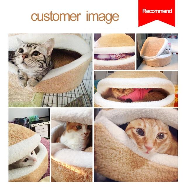 Warm Cat Hamburger Bed  2