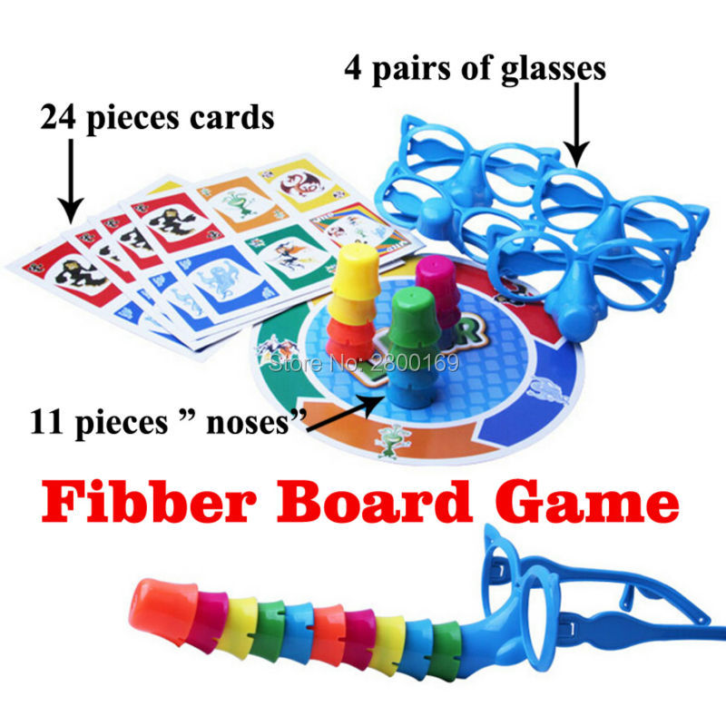 Family Fun Liar Board Game,Glasses Stretch The Truth,Your Nose May Grow, 2-4 Players Includes Funny Glasses Family Fun Toys