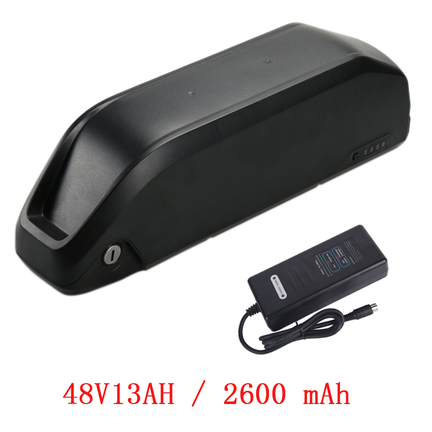 48V 13AH Polly Battery with USB Lithium Battery for Electric Bicycle 48V 500W 750W 8Fun Motor Kits Ebike Li ion Battery
