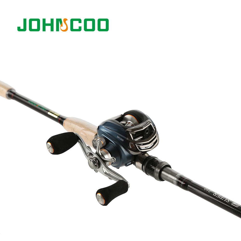 JOHNCOO JOURNEY Fishing Rod Combo 2.1m 2.4m 2.7m Carbon Rod Baitcasting Fishing Rod Medium Fast 4 Sections Fishing Rod Set