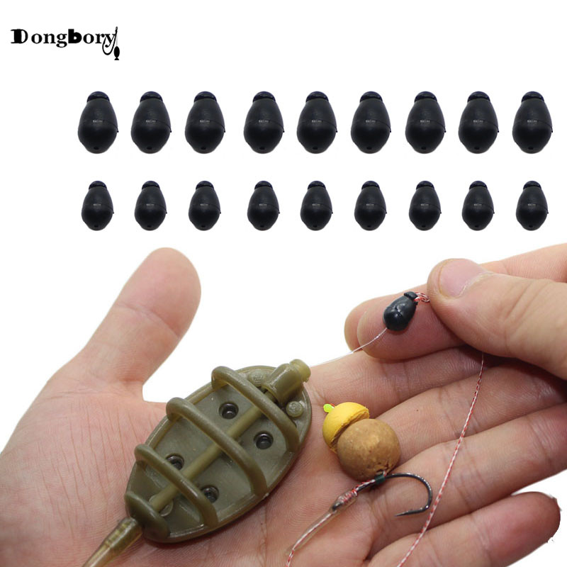 20 Set Fishing Line Holder Quick Change Beads Hook Link Hair Rigs Connector