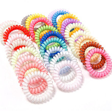 20pcs Wholesale 5CM  Telephone Wire Elastic Gum for hair rubber bands spring scrunly You PICK Colors