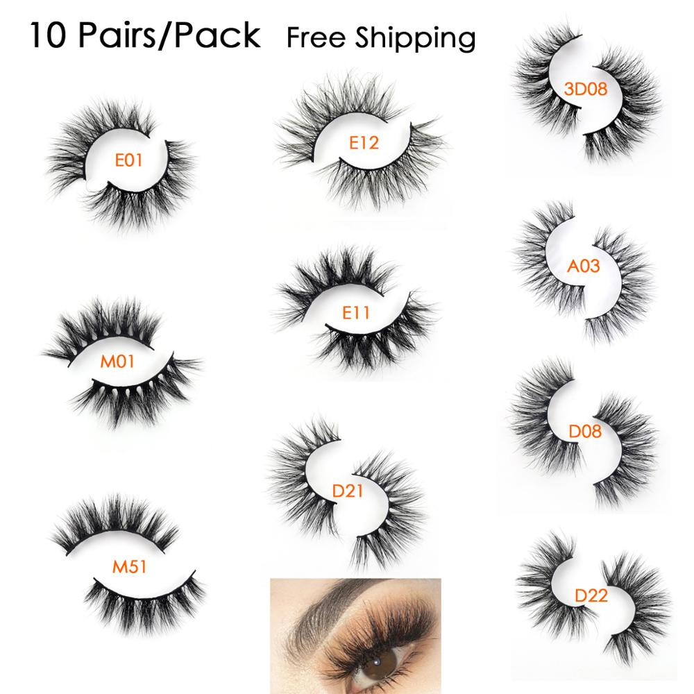 Visofree Lashes Multipack 10 Pairs 3D <font><b>Mink</b></font> Lashes False <font><b>Eyelashes</b></font> Best Sell <font><b>Mink</b></font> <font><b>Eyelashes</b></font> Natural Dramatic <font><b>Eyelashes</b></font> For Makeup image