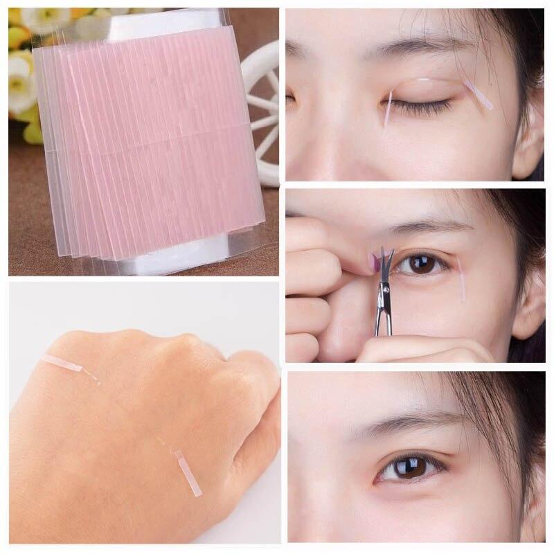 50 pcs Invisível Fibra Pálpebra Dupla Face Adesiva Adesivos Eye Técnico Tapes M01632
