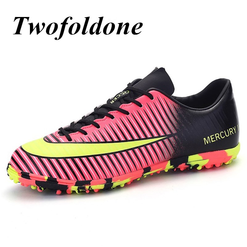 ФОТО 2017 New Men football boots crampons Turf Cleats Football Shoes Kids/boys futsal ball Boys training soccer boots