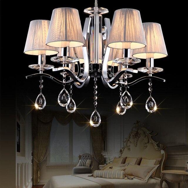 Hghomeart européenne moderne cristal lampe led lustre lustre design lustres salon chambre lumineuse suspension lampe