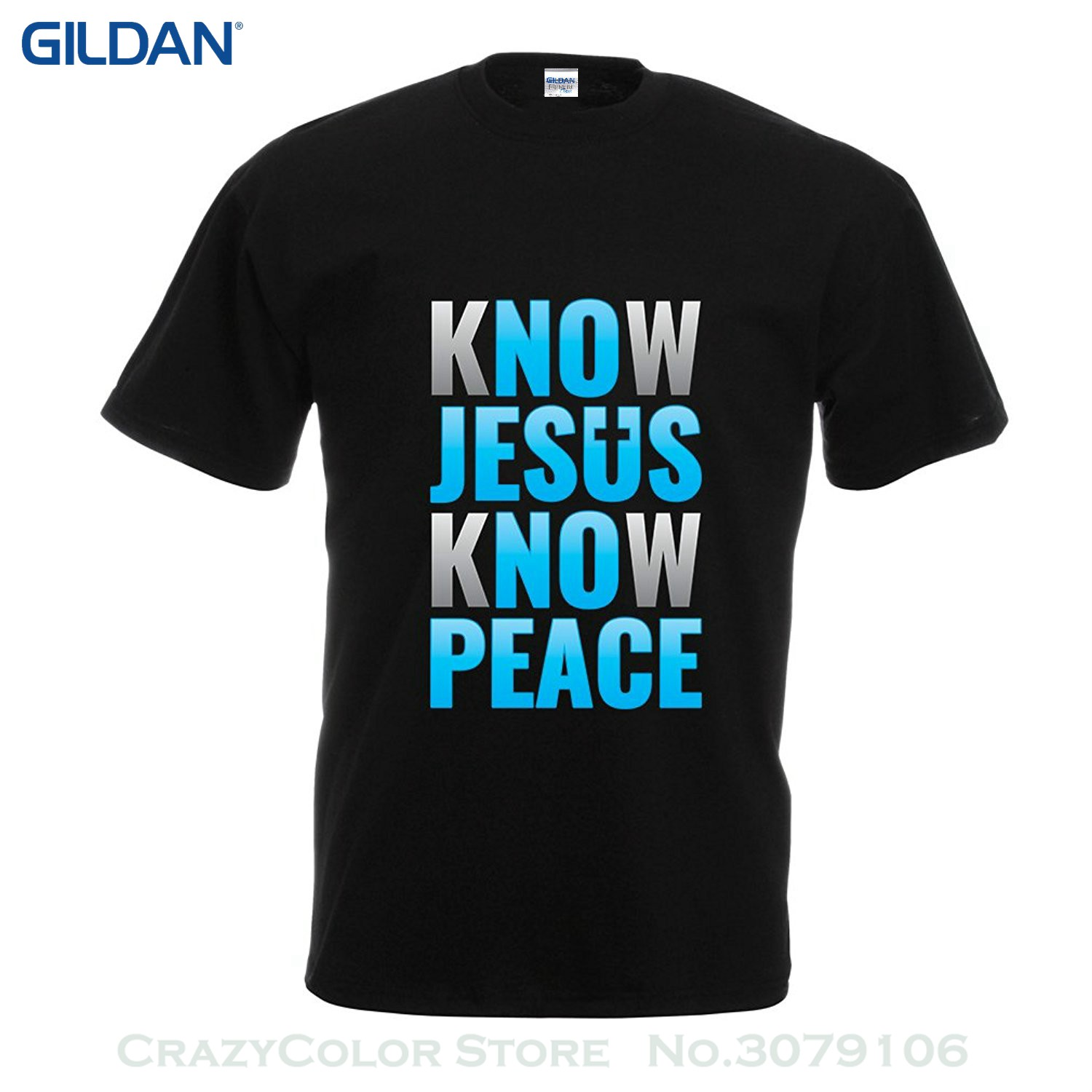 4282d7fd Short Sleeve Mens Formal Shirts T Shirts For Men Know Jesus Know Peace!  Christian Clothing