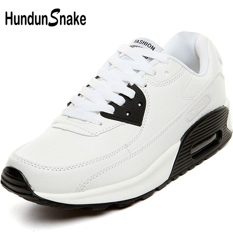 ed9dde862 Hundunsnake الأبيض وسادة الهواء الرجال أحذية رياضية الرجال الجلود الرجال  الاحذية المرأة الرياضة أحذية الرجال الأحذية
