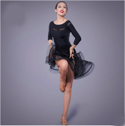 Fustan Vallëzimi Latin Gratë Sexy Ballroom Tango Vallëzimi Vajza - Arte, zanate dhe qepje - Foto 1