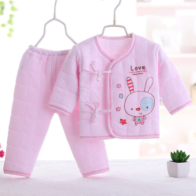 2f72b0a2f Winter 0 3M Newborn Baby Clothes Sets Thick warm baby girls clothes ...