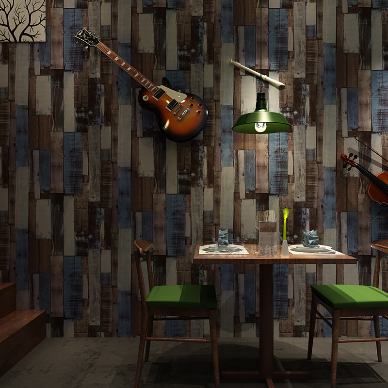 PVC Wallpaper Modern Imitation Wood Retro Wall Papers Living Room Study Restaurant Cafe Backdrop Wall Decor Papel De Parede Sala wallpaper modern anchos travelling boat modern textured wallcoverings vintage kids room wall paper papel de parede 53x1000cm