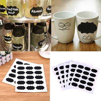 75pcs/5set Blackboard Sticker For Kitchen Can Bottle Jar Stickers Chalkboard Labels Tag Wall Home Decor Chalkboard Sticker
