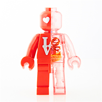 4D Love red brick man Intelligence Assembling Toy Assembling toy Perspective Anatomy Model DIY Popular Science Appliances фото