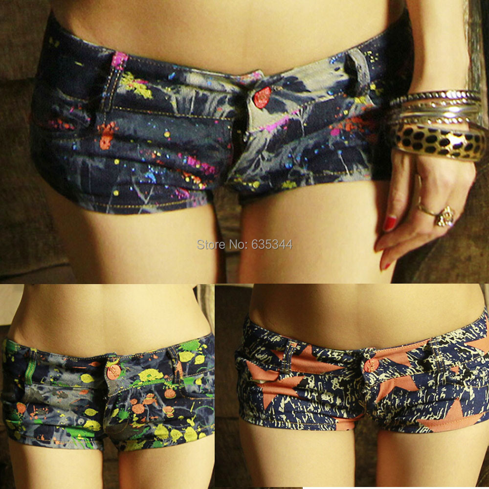 2014 Vintage New Summer Women Casual Floral Short spring fashion hole denim shorts personality cool short jeans pants - I LOVE ANGEL store