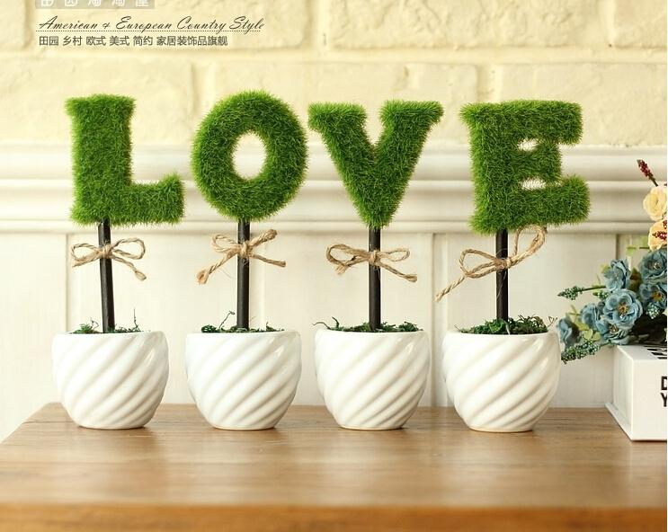 Aliexpress 4pcs Lot Decorative Potted Green Plants In