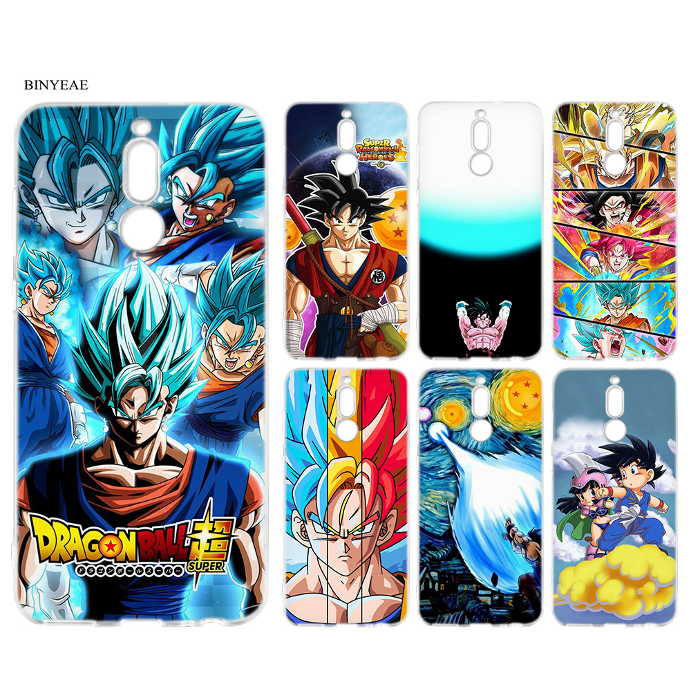 Soft Case Cover for Huawei Mate 20 10 P30 P20 P10 Lite Pro P Smart 2019 Nova 4 Dragon Ball Z Goku DragonBall Super Cartoon Case in Fitted Cases from Cellphones Telecommunications
