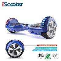 IScooter 6,5 дюймов 2 колеса Смарт Электрический Ховербордом с Bluetooth Динамик светодиодный свет сумка самостоятельно баланс скутер UL2272