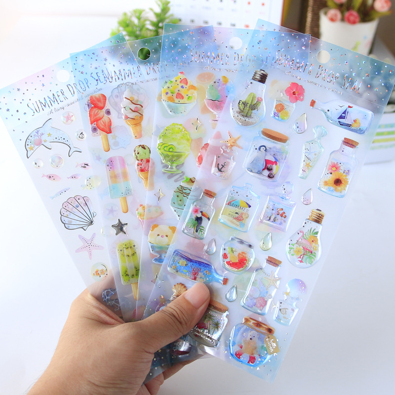 1 Set/1 Lot Stationery Stickers Cartoon Fantasy Summer Diary Planner Decorative Mobile Stickers Scrapbooking DIY Craft Stickers