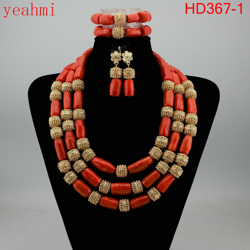 Coral Beads Statement Necklace Set Chunky Bib Beads African Jewelry Fashion Real Coral Necklace Set Dubai Free Shipping HD367-1Coral Beads Statement Necklace Set Chunky Bib Beads African Jewelry Fashion Real Coral Necklace Set Dubai Free Shipping HD367-1
