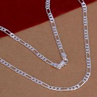 10pcs Wholesale Silver Plated Jewelry 4MM Men S 20inches Chain Necklace