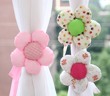 6pcs/set Curtain buckle,Romatic Flower Tieback curtain clips buckle belt for window accessory home decoration