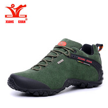 XIANGGUAN man Hiking Shoes Women Suede Athletic Trekking Boots Green Zapatillas Sports Climbing Shoe Outdoor Walking Sneakers