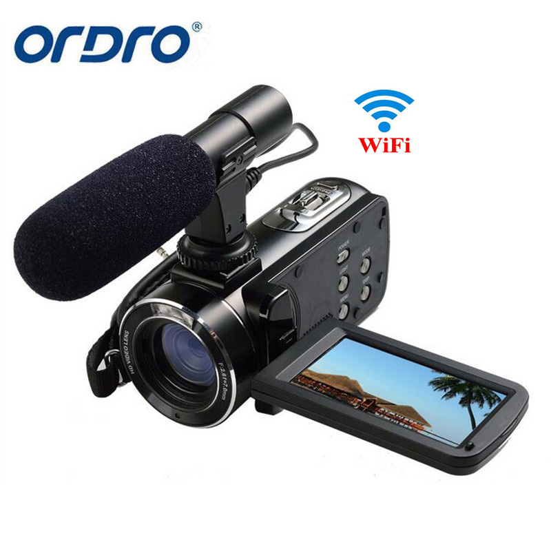 """Ordro Z20 3 """"skārienekrāns digitālā kamera Full HD 1080P 24MP 16x tālummaiņas mikrofons Videokamera Videokamera DV Wifi ar tālvadības pulti"""