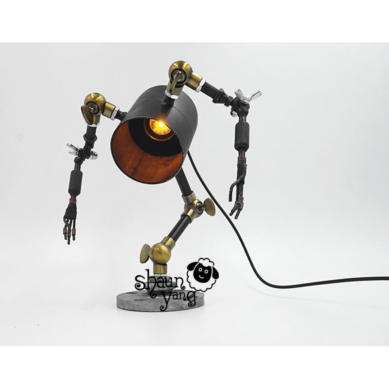시원한! 소설과 창조적 인 성격 복고풍 기계 'frozen'robot bar diy 미국 국가 산업 바 호텔 레스토랑-에서라이트업 장난감부터 완구 & 취미 의  그룹 1