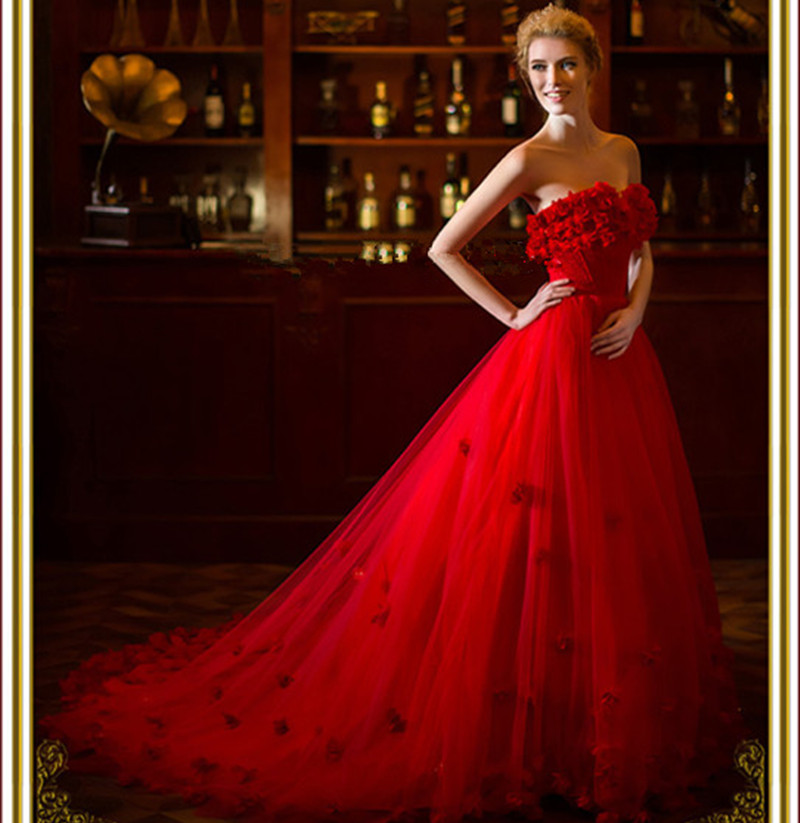 Online buy wholesale wedding gowns red from china wedding for Where to buy red wedding dress