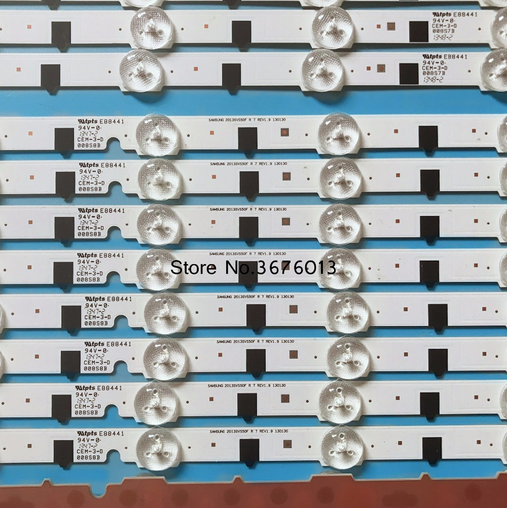 (neue Kit) 18 Stücke Led-hintergrundbeleuchtung Streifen Für Samsung Tv Un50f6400af 2013svs50f R 7 L 9 D2ge-500scb-r3 D2ge-500sca-r3 T500hvf02.4