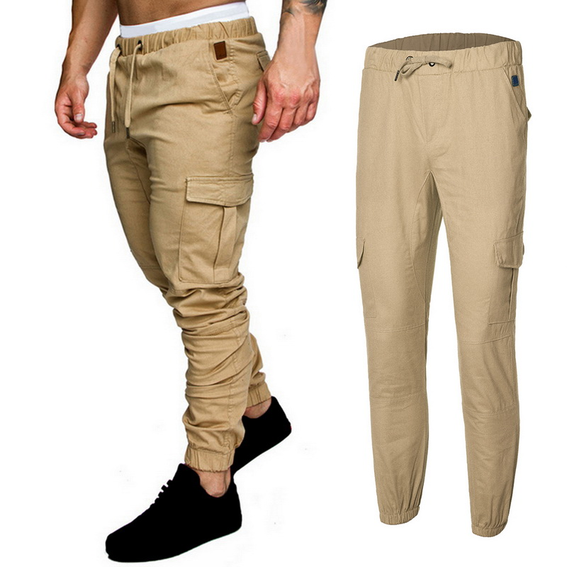 WSGYJ Brand Men Casual Pants 2019 Fashion Solid Color Streetwear Long Trousers Jogger Baggy Quality Khaki Pant