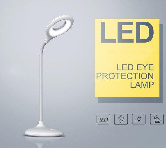 Зарядка usb led настольная лампа с регулируемой яркостью настольная лампа сенсорный датчик светодиодные настольные лампы свет рабочий стол luminaria-де-меса