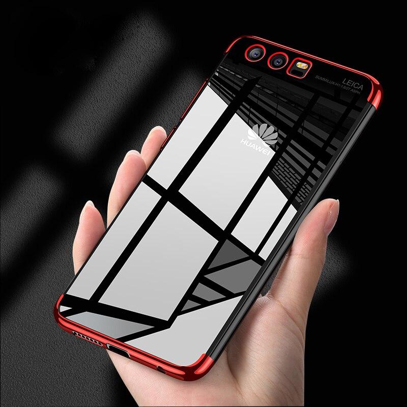 Premium Plating TPU Phone Case For Huawei Honor 10 9 8 Lite 7X V10 V9 Y5 2018 P20 Lite P10 Mate 10 Pro Transparent Back Cover