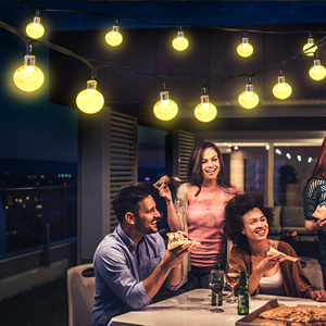 Image 3 - 30 LED ソーラーストリングライト屋外クリスタルボール照明クリスマスツリーのため、庭、パティオ、結婚式や休日の装飾