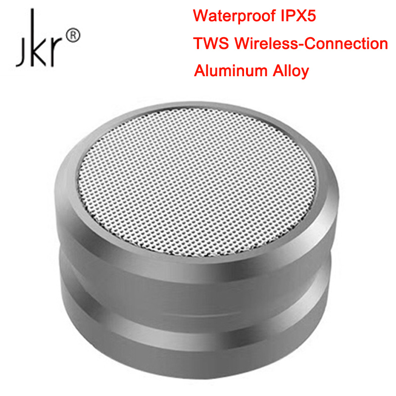 JKR 5 Aluminium Alloy Bluetooth Speaker TWS Wireless Waterproof IPX5 Portable Speakers HIFI Super Bass Support FM Radio TF AUX