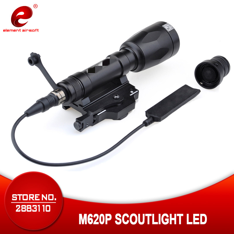 Airsoft Element Softair SF M620P Scout Light LED Surefir Weapon light Night Evolution Weapon Flashlight handheld Spotlight EX363-in Weapon Lights from Sports & Entertainment