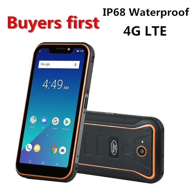 "Guophone X3 IP68 Waterproof mobile phone Android 8.1 MTK6739 Quad Core 5.5"" FHD 4500mAh RAM 2GB ROM 16GB 8MP 4G LTE smartphone"