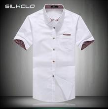 Мужчины, летнее camisa masculina плед летний воротник коротким случайные рубашка рубашки