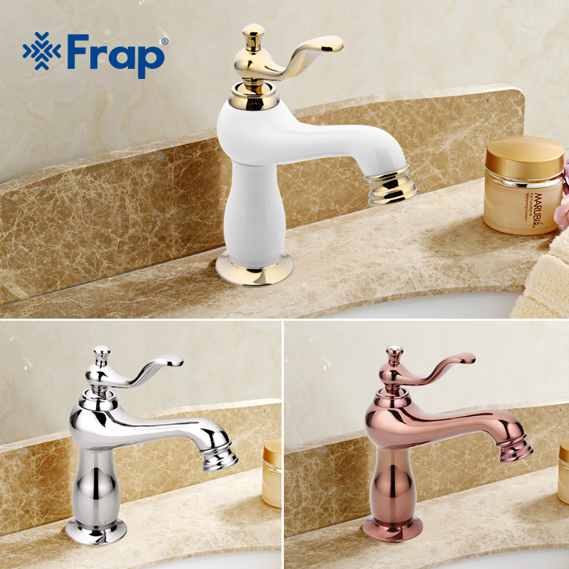 Frap New Luxury Basin Gold Faucet Fashion Brass Tap Single Handle Crane Torneira Hot and Cold Mixer Tap  Y1312D Y1313D Y1314D frap new bathroom combination basin faucet shower tap single handle cold and hot water mixer with slide bar torneira f2822