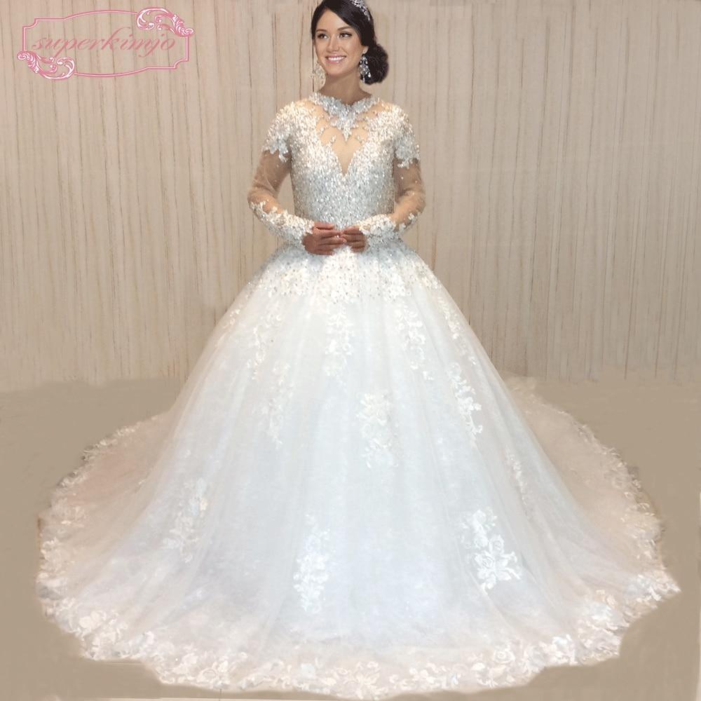 Купить superkimjo vestido de noiva 2018 настоящие фото свадебные платья