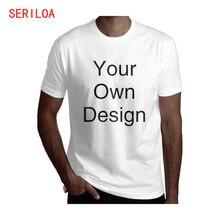 Мужская футболка высокого качества с коротким рукавом и принтом