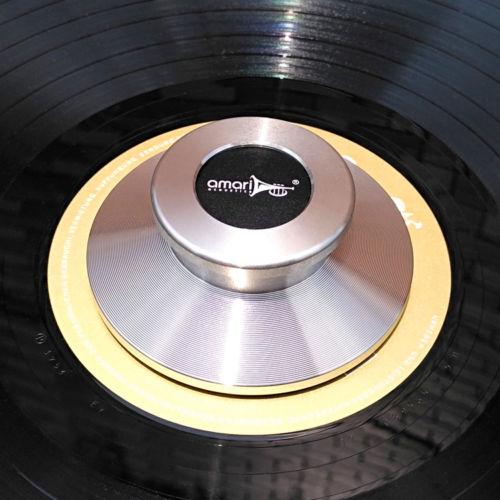 TC 02 Acoustics LP Vinyl Turntables Metal Clamp Disc Stabilizer Record silver