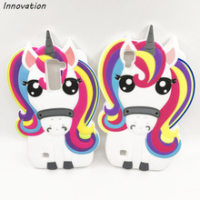 Coque For LG K10 Case 3D Cute Cartoon Rainbow Unicorn Pony Horse Soft Silicone Mobile Phone Bag Capa Cover Q10 Fundas