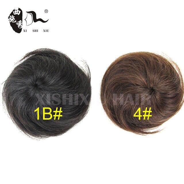 100 Human Real Hair Bun Hair Chignon Buns With Drawstrings With