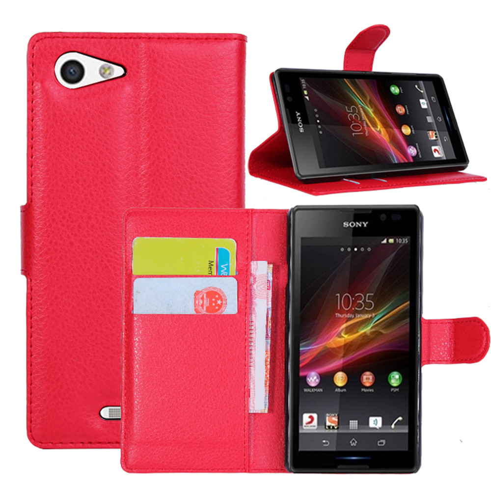 Luxury Retro Leather Case For <font><b>Sony</b></font> <font><b>Xperia</b></font> <font><b>E3</b></font> D2203 D2206 <font><b>D2212</b></font> Wallet Flip Cover For <font><b>Sony</b></font> <font><b>Xperia</b></font> <font><b>E3</b></font> Case Phone Coque Fundas Caso image