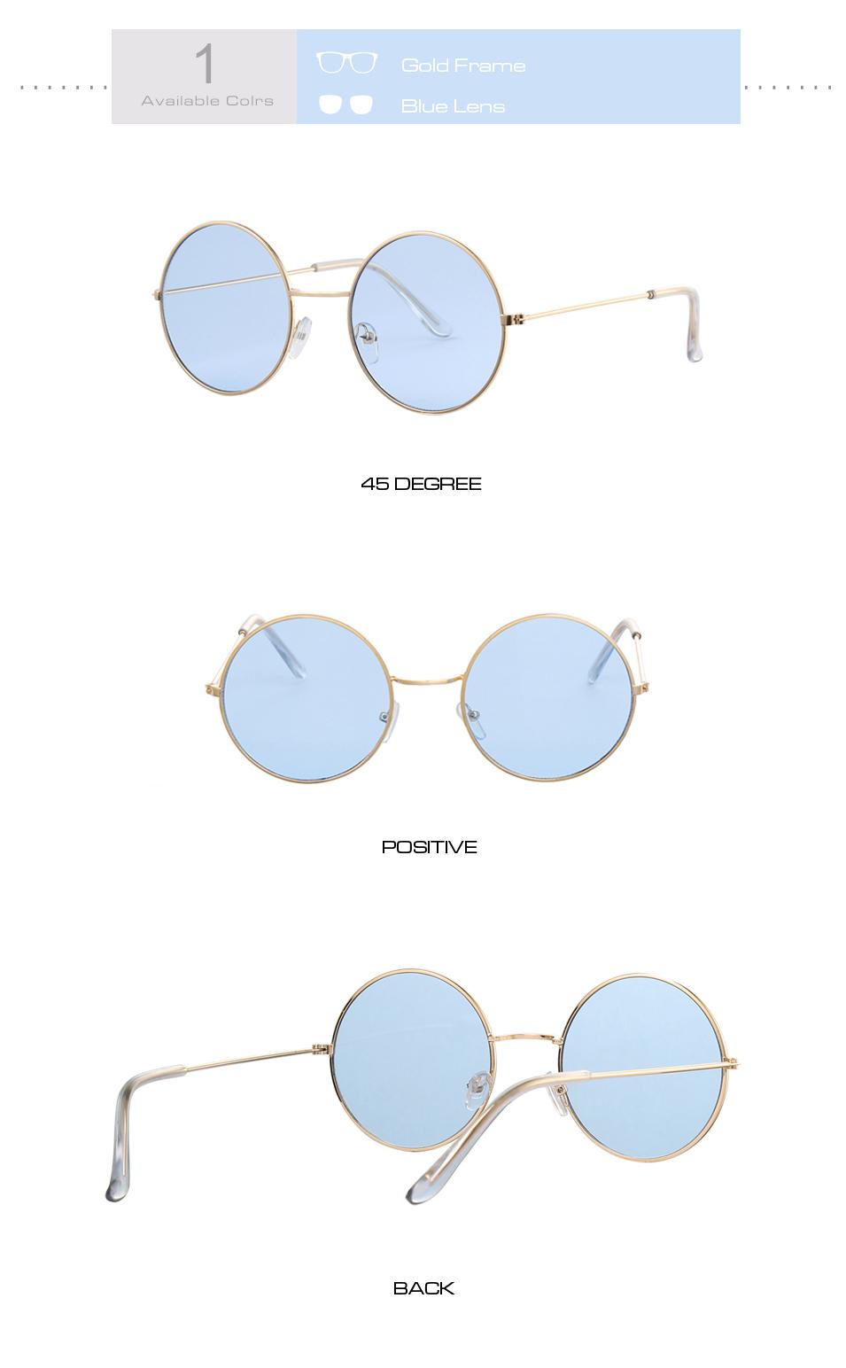 Women's Round Mirror Sunglasses 10