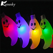 outdoor 20ft6m 30led solar power halloween ghost string light lamp auto on at night decoration for garden home patio lawn chris