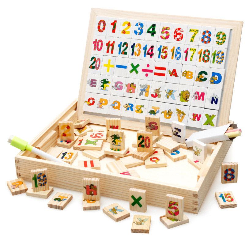 Wooden Math Blocks Kids Montessori Preschool Educational Toys Counting Number Learing  Alphabet Manipulative Building Brike Kits wooden educational tool number building blocks number sticks kids math learning educational toy ao p