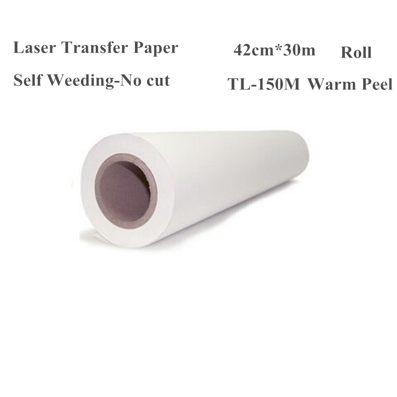 Laser Heat Thermal Transfer Printing Paper For T shirt Clothes Fabric Roll Size 420mm*30m TL-150MLaser Heat Thermal Transfer Printing Paper For T shirt Clothes Fabric Roll Size 420mm*30m TL-150M