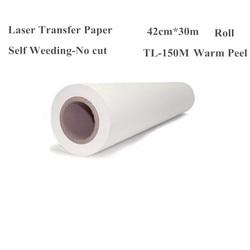 Papel de impresión de transferencia térmica láser para camisetas, ropa, rollo de tela, tamaño 420mm * 30m TL-150M